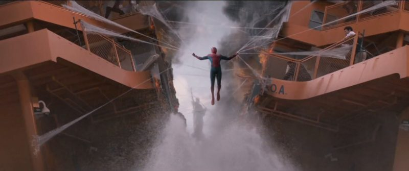 spider man homecoming holding staten island ferry with web