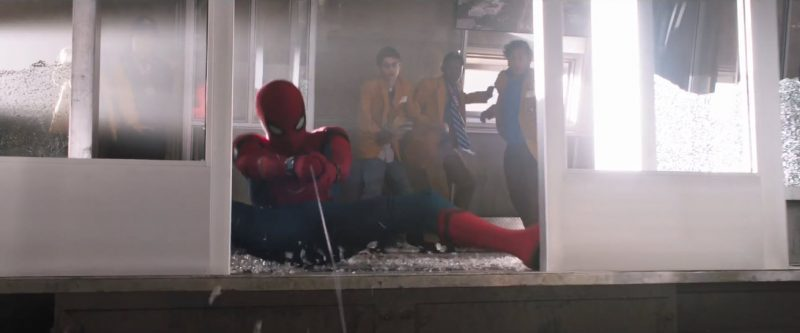 spider man homecoming web fights