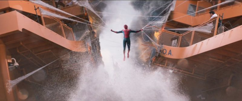 spider man web holding staten island ferry together homecoming