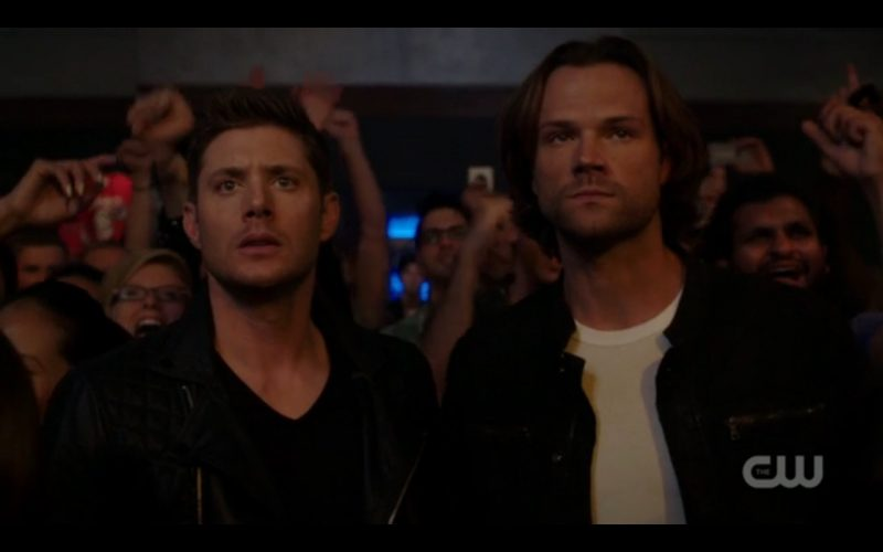 supernatural winchester brothers rocking out for lucifer