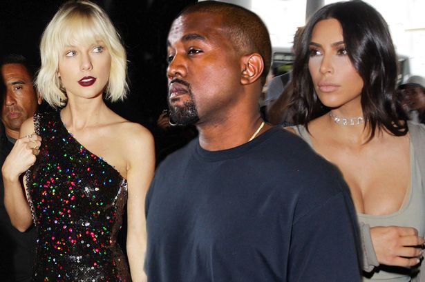 taylor swift feuds with kanye west and kim kardashian