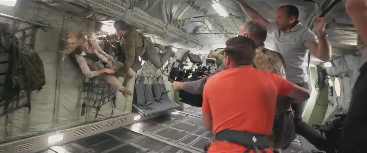 the mummy fight scenes on set 2016