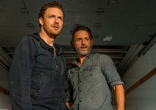the walking dead rick and aaron stash