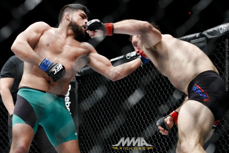 tim kennedy pummelled by kelvin gastelum
