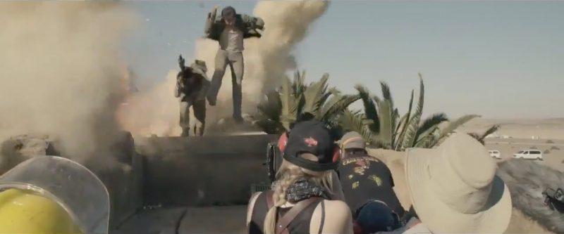 tom cruise explosion on the mummy set