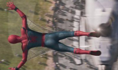 tom hollands spider man homecoming first footage has wings 2016 images