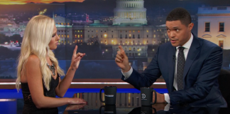 trevor noah proves himself with tomi lahren black lives matter debate 2016 images