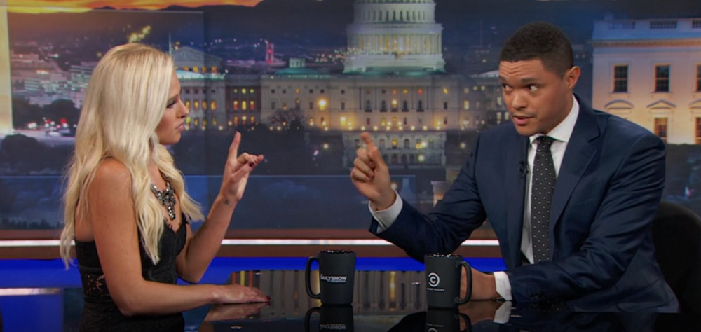 Trevor Noah proves himself with Tomi Lahren Black Lives Matter interview 2016 images