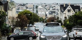 uber self driving cars in san francisco staying