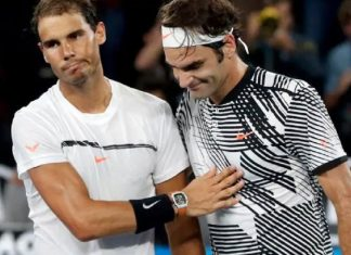 Roger Federer wins 2017 Australian Open beating rafael nadal images