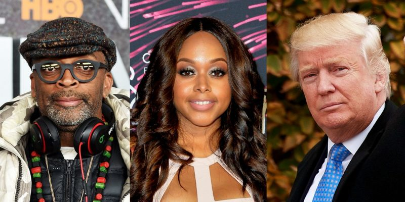 chrisette michele donald trump and spike lee