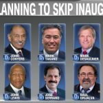 democrats skipping donald trump inauguration 2017 images
