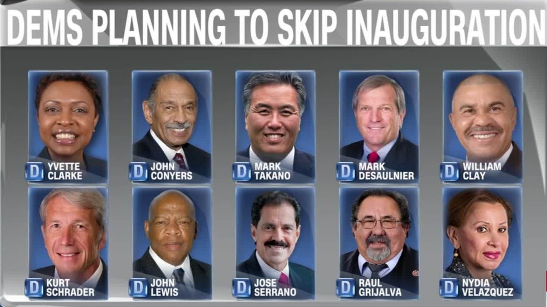list grows of democrats boycotting donald trump inauguration 2017
