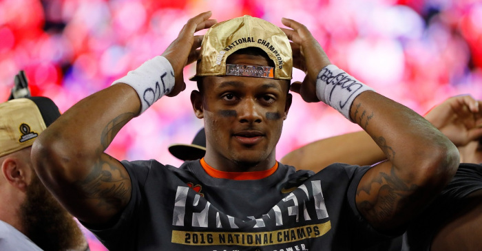 deshaun watson misses senior bowl over cleveland browns wishes 2017