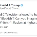 donald trump blackish tweet 2017