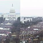 donald trump inauguration crowd vs womens march on dc crowd 2017