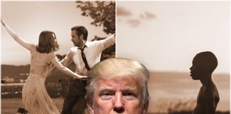 donald trump loomed over golden globes and la la lands glory 2017 images