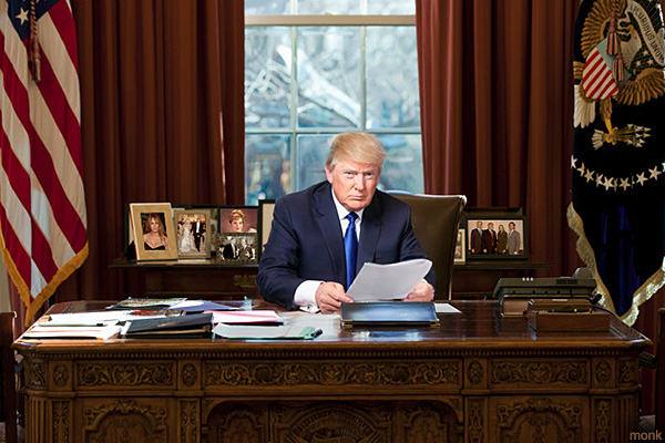 donald trump oval office images