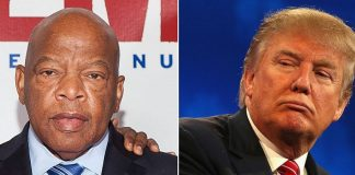 donald trump takes on civil rights legend john lewis with twitter 2017 images