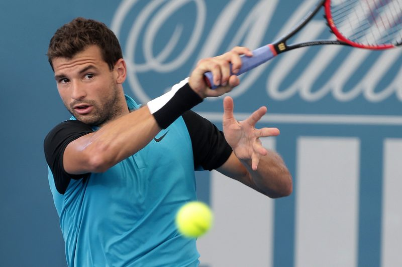 grigor dimitrov holding out at australian open 2017