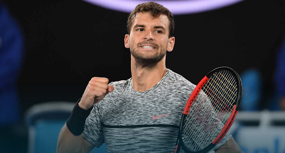 Grigor Dimitrov takes out Ricahrd Gasquet at Australian Open 2017 images