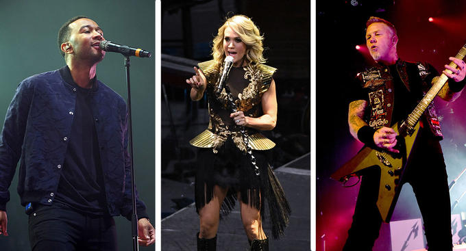 john legend carrie underwood plus metallica for grammys