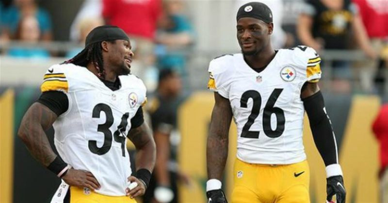 leveon bell with deangelo williams steelers