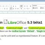 libreoffice upgrades to ribbons like word