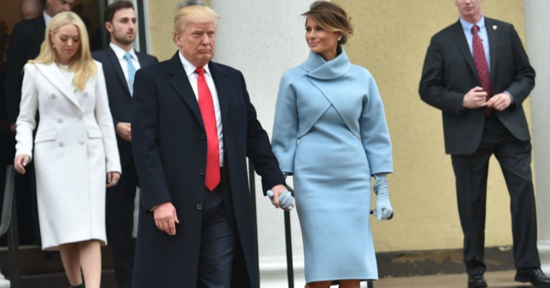 melania trump jacki o blue dress