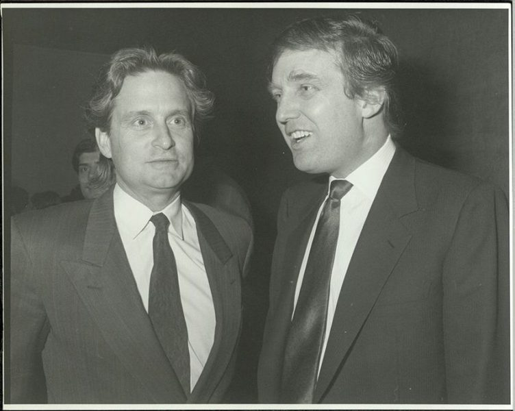 michael douglas with donald trump