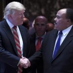 mlk meeting with donald trump