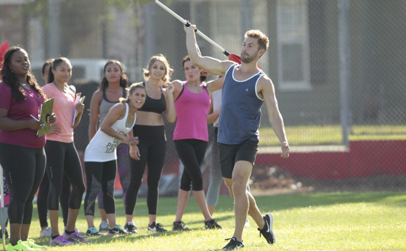 nick viall throwing hard rod for the bachelor