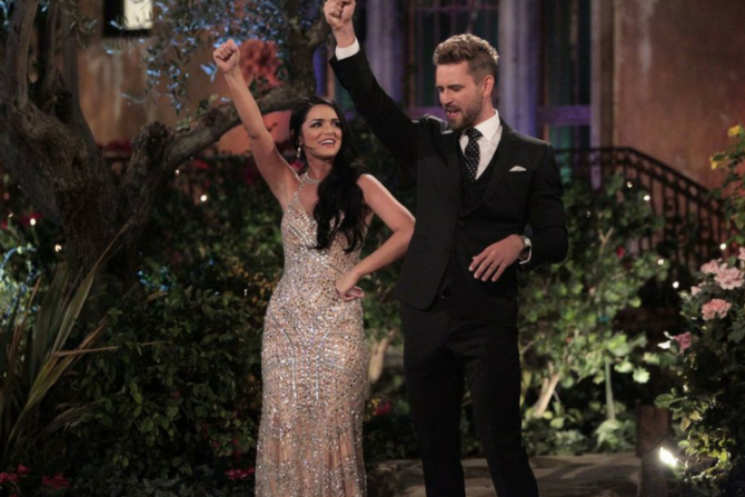 nick viall with raven gates bachelor engaged