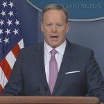 Sean Spicer's calmer Monday White House press conference