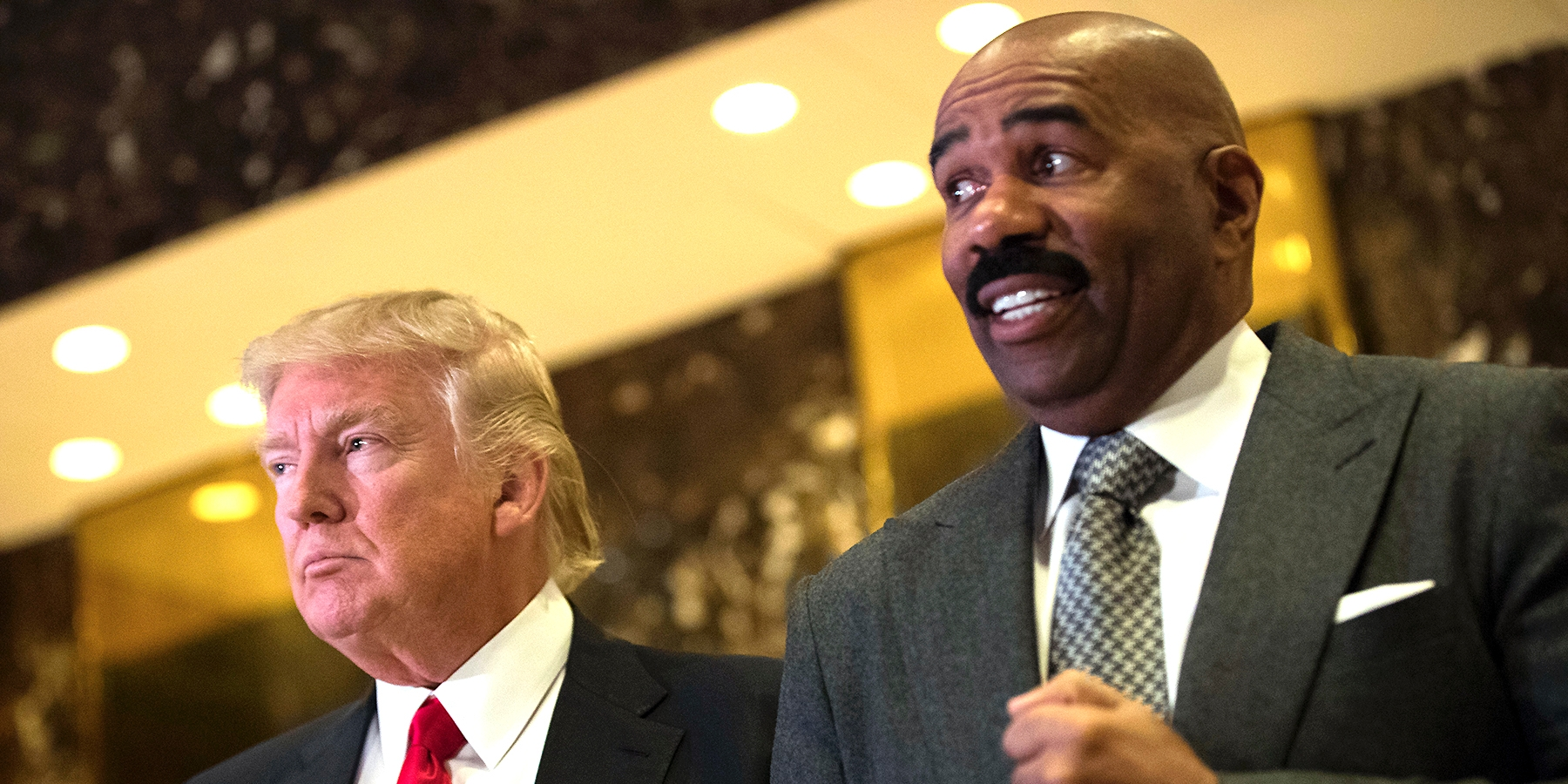 steve harvey with donald trump