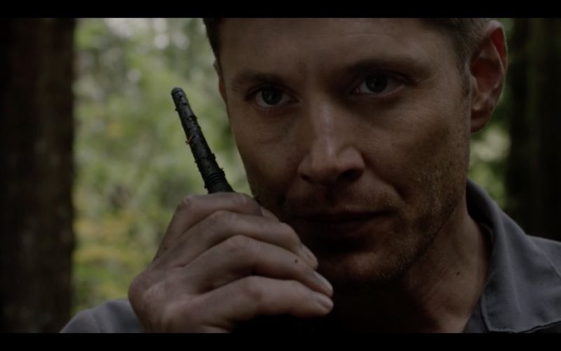 supernatural 12.09 dean winchester walkie close up 2