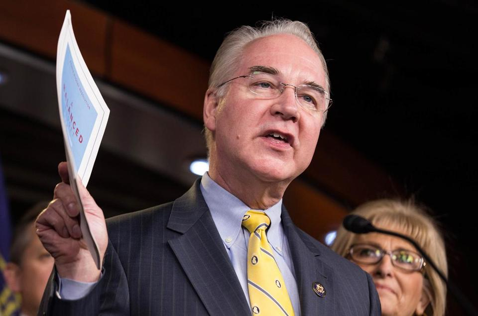 donald trump pick tom price on health care