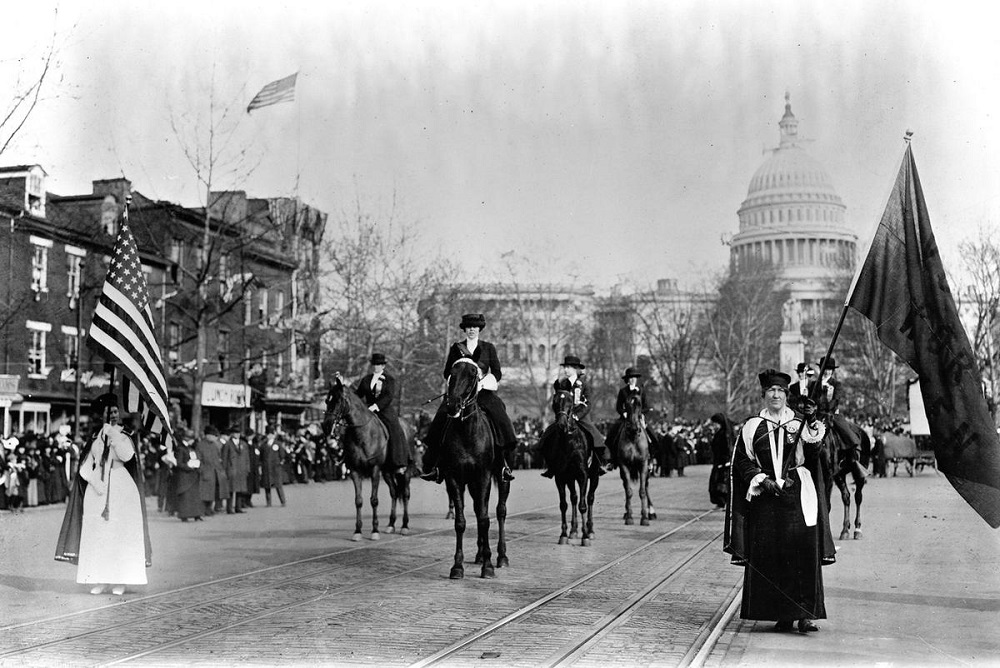 womens march a reminder of 1913 suffrage parade 2017 images