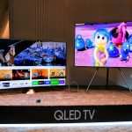 2017 hot tech samsung qled tv brightness