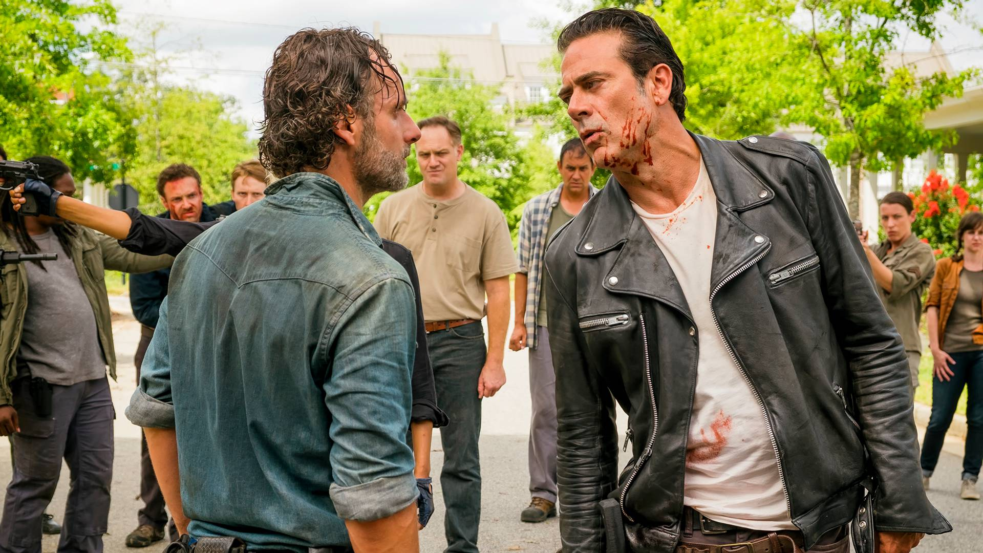 negan scraing eugene on walking dead