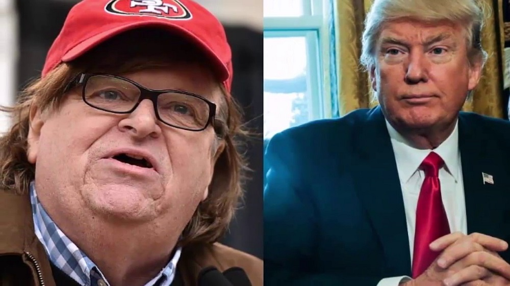 Michael Moore wants to discombobulate Donald Trump 2017 images