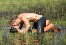 bachelor nick viall shirtless swamp kiss
