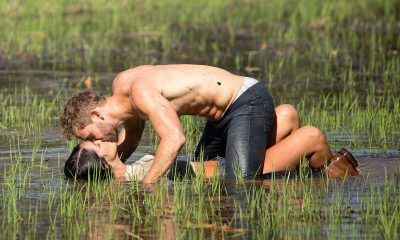 bachelor nick viall shirtless swamp kiss