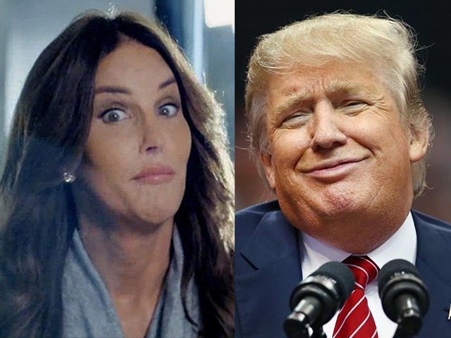 caitlyn jenner vs donald trump on transgender bathroom issue