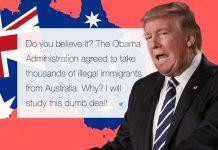 donald trump continues about australia bad deal