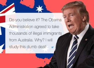 donald trump continues about australia bad deal
