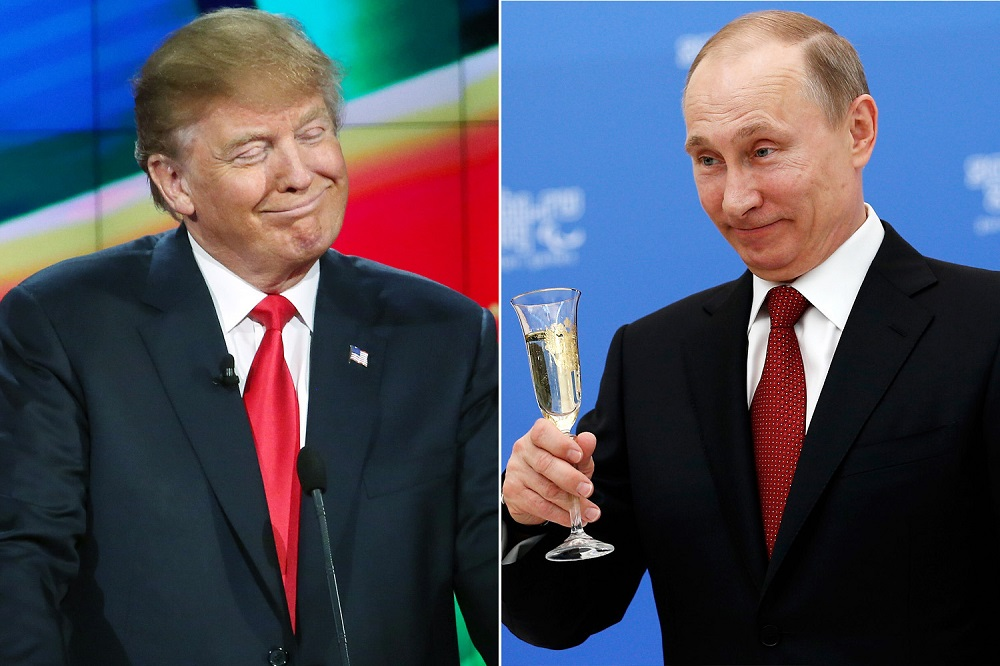 Donald Trump continues lovefest with 'thug' Vladimir Putin 2017 images