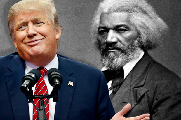 donald trump doesnt mess up black history month talk