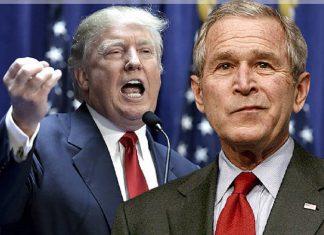 george w bush speaks up on donald trump 2017 images