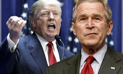george w bush speaks up on donald trump 2017 images